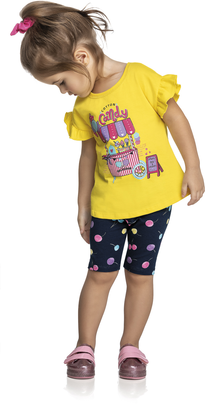 Conjunto Infantil Feminino Candy - Lecimar