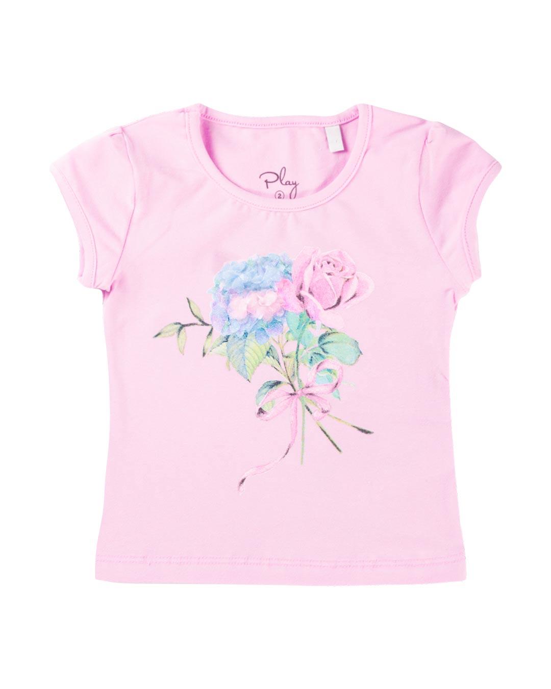 Conjunto Infantil Flores Rosa - Playground