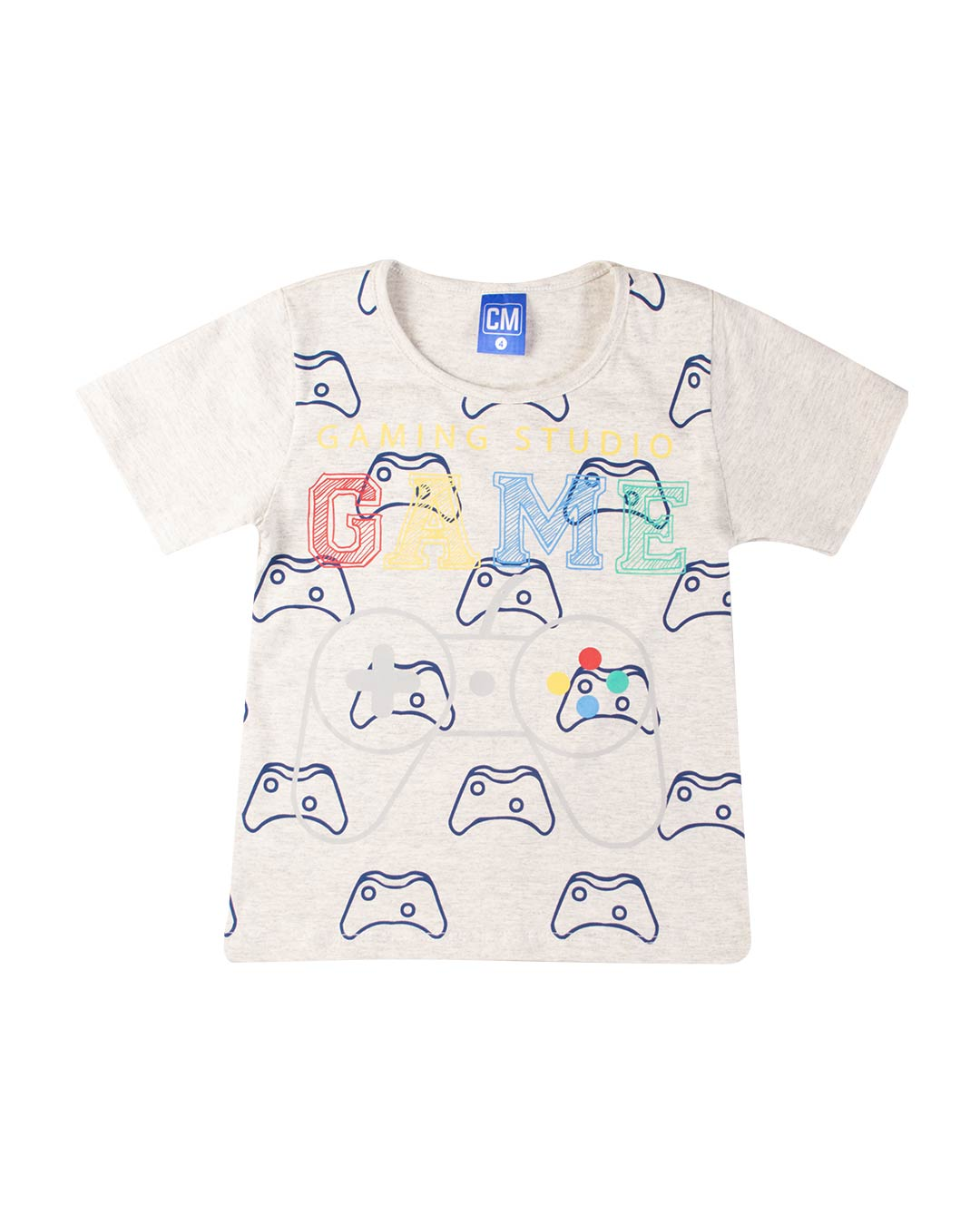 Conjunto Infantil Gaming Studio Cinza - Cara Metade
