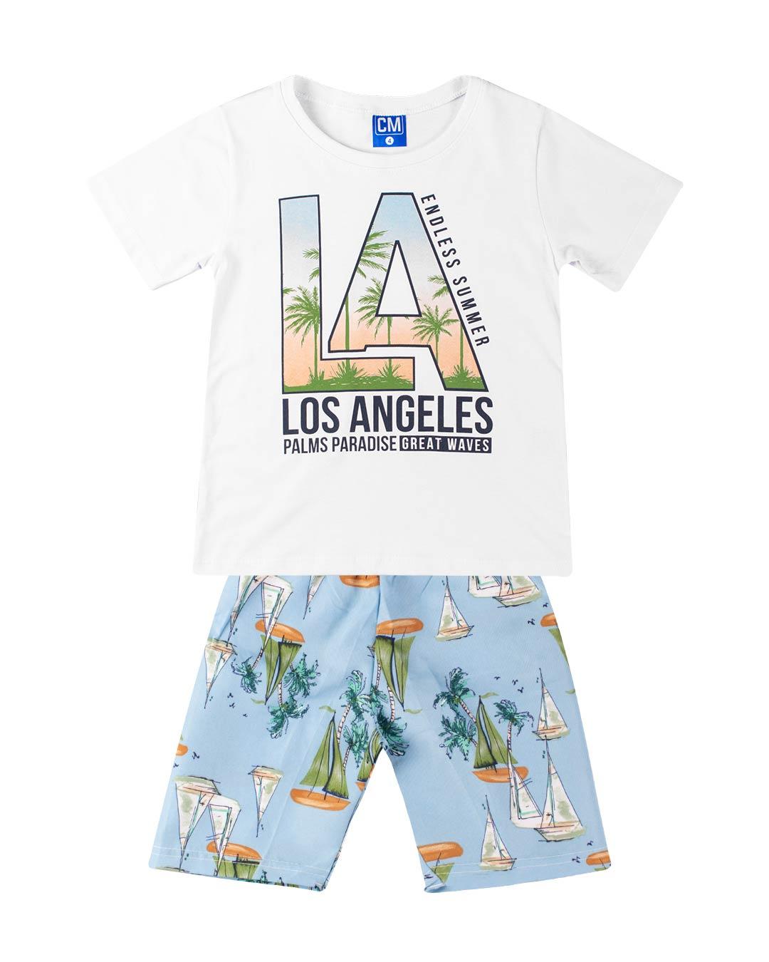 Conjunto Infantil Los Angeles Branco - Cara Metade