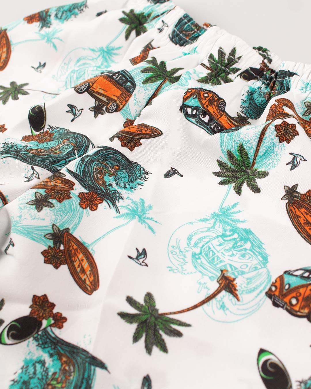 Conjunto Infantil Palm Island Cinza - Cara Metade