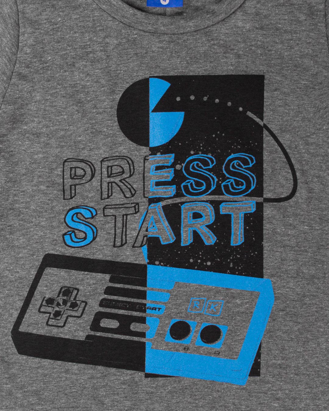 Conjunto Infantil Press Start Cinza - Cara Metade