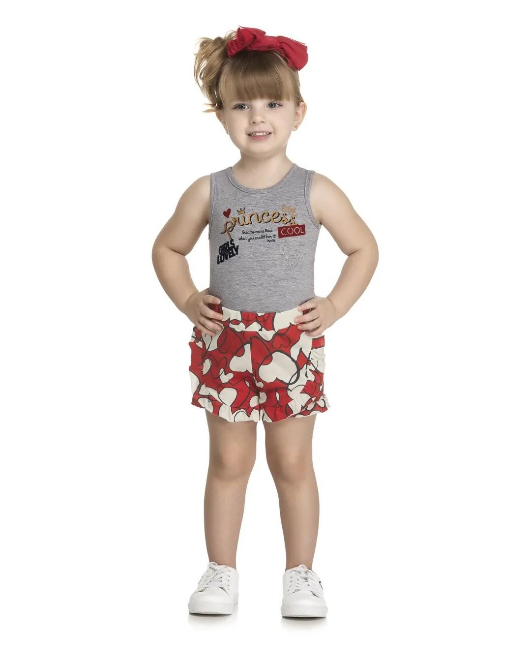 Conjunto Infantil Princess Mescla - Kely & Kety