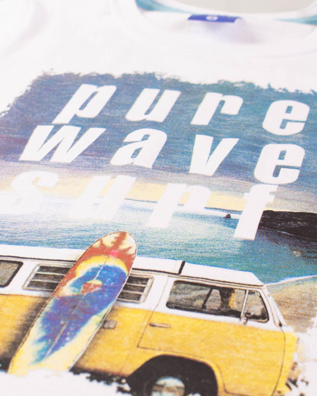 Conjunto Infantil Pure Wave Surf Branco - Cara Metade