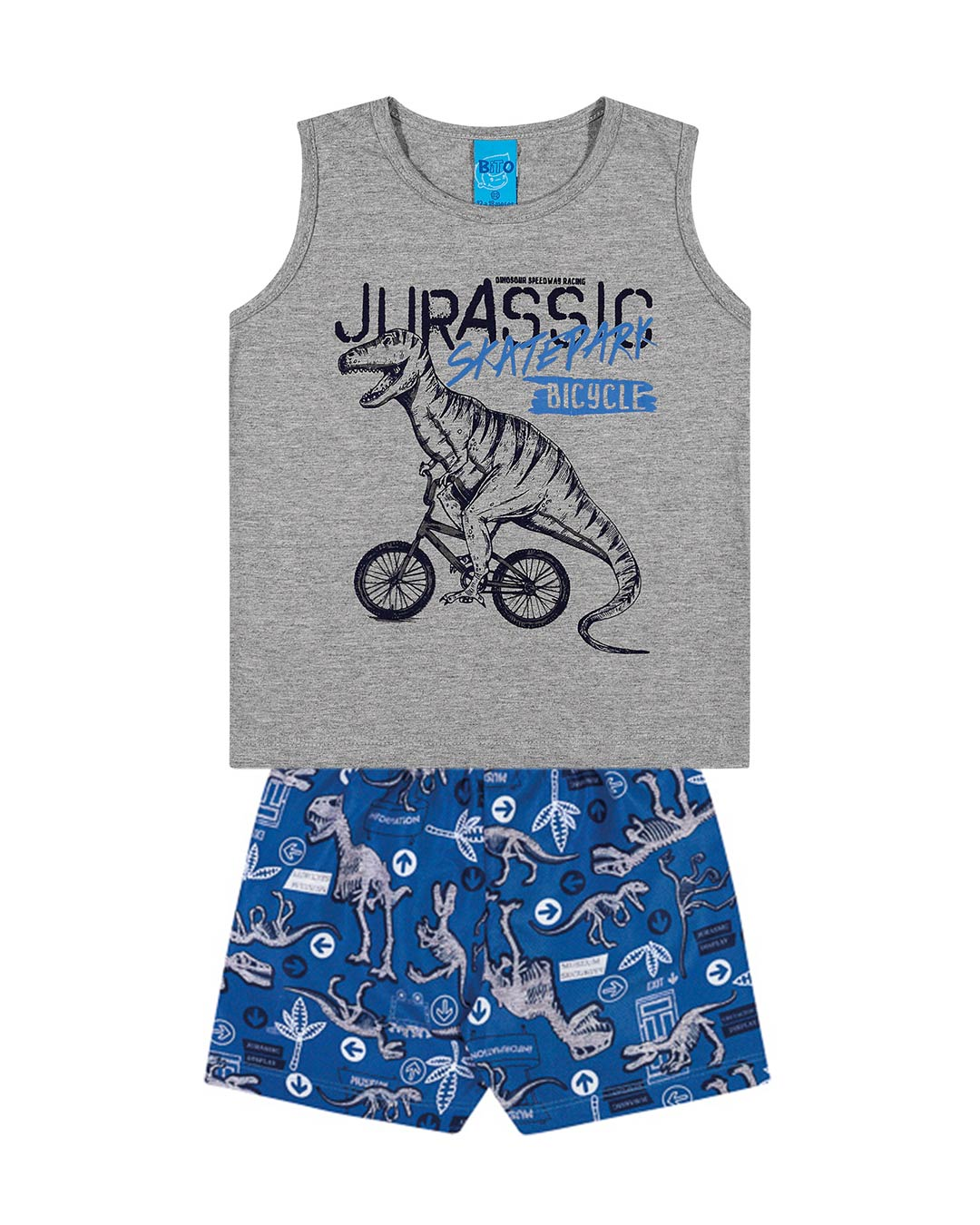 Conjunto Infantil Regata Jurassic Bicycle - Lecimar