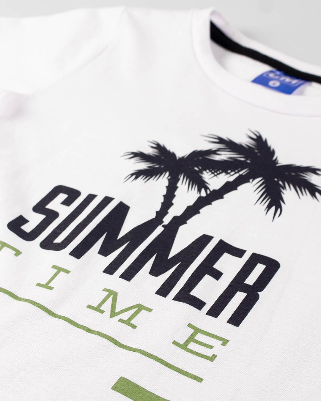 Conjunto Infantil Summer Time Branco - Cara Metade