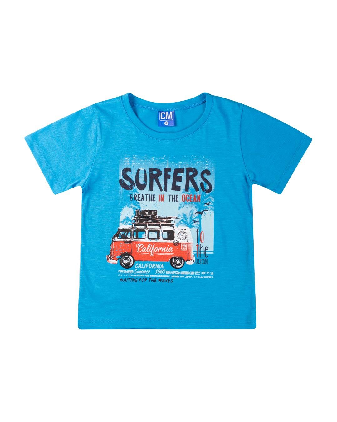 Conjunto Infantil Surfers Azul - Cara Metade