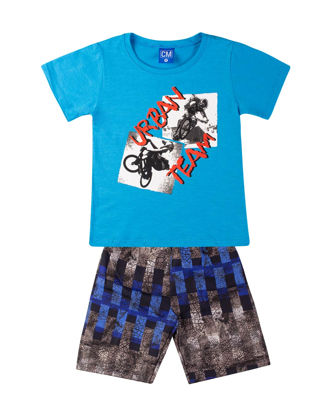 Conjunto Infantil Urban Team Azul - Cara Metade