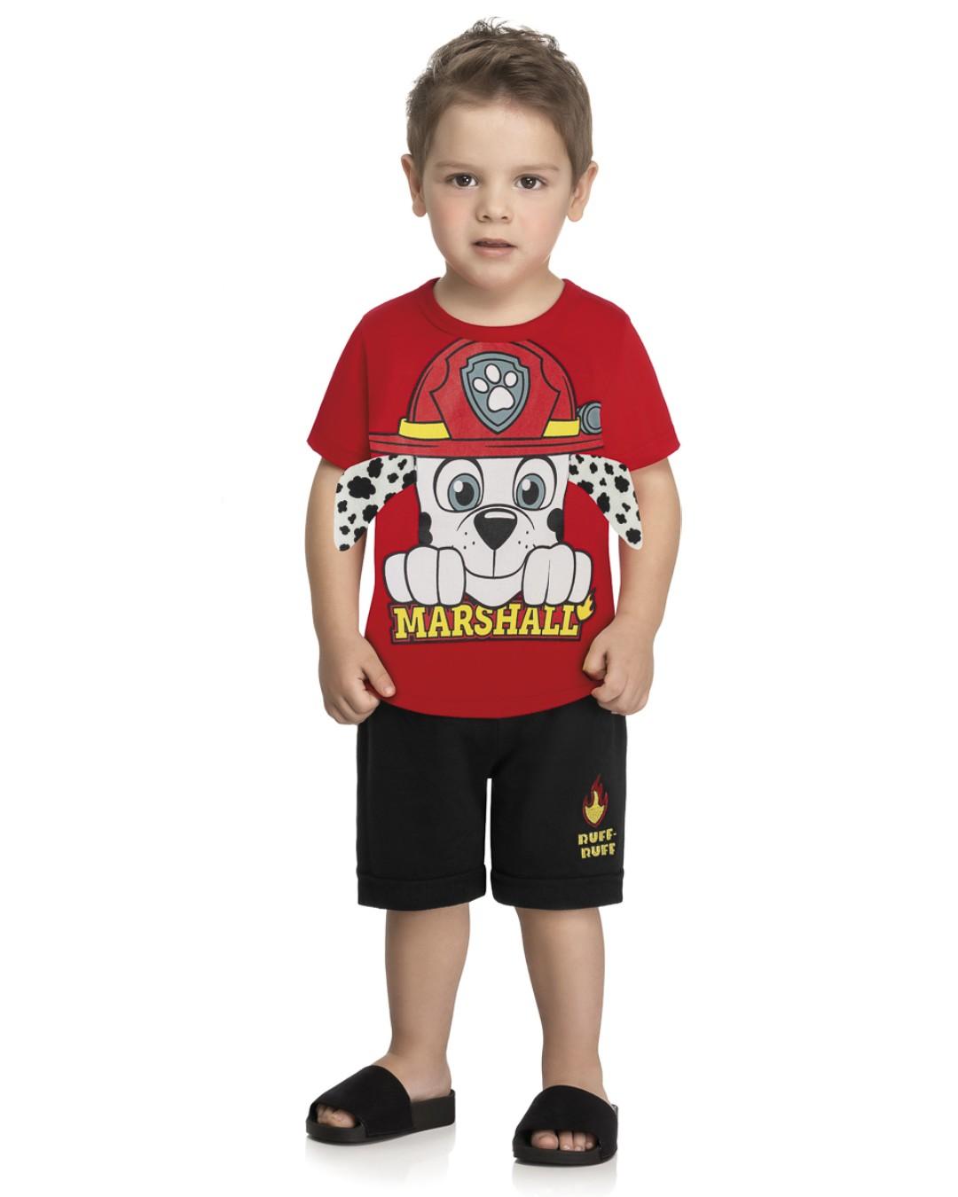 Conjunto Longwear Infantil Doguinho Bombeiro - Nickelodeon