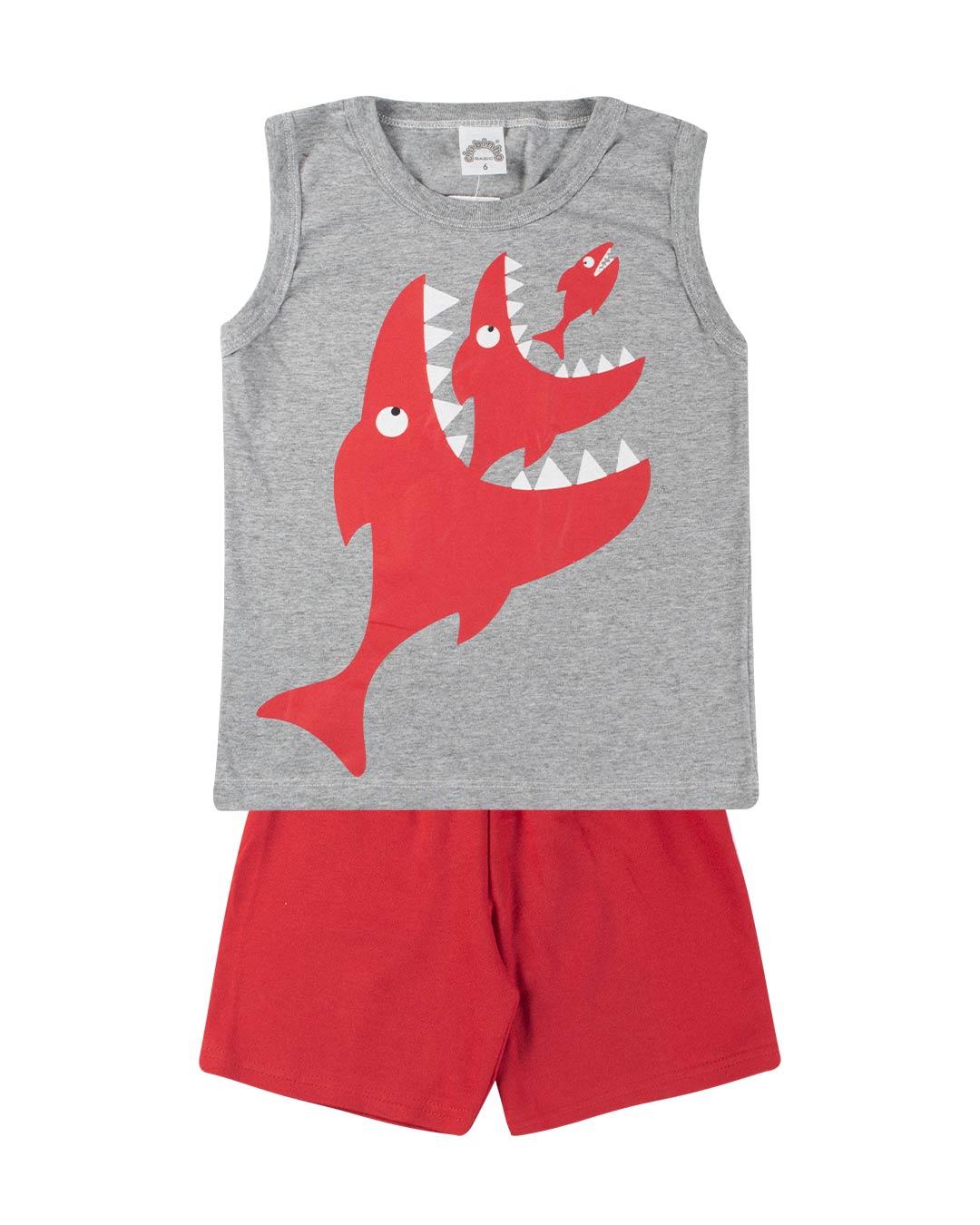 Conjunto Masculino Tubarão - Clubinho