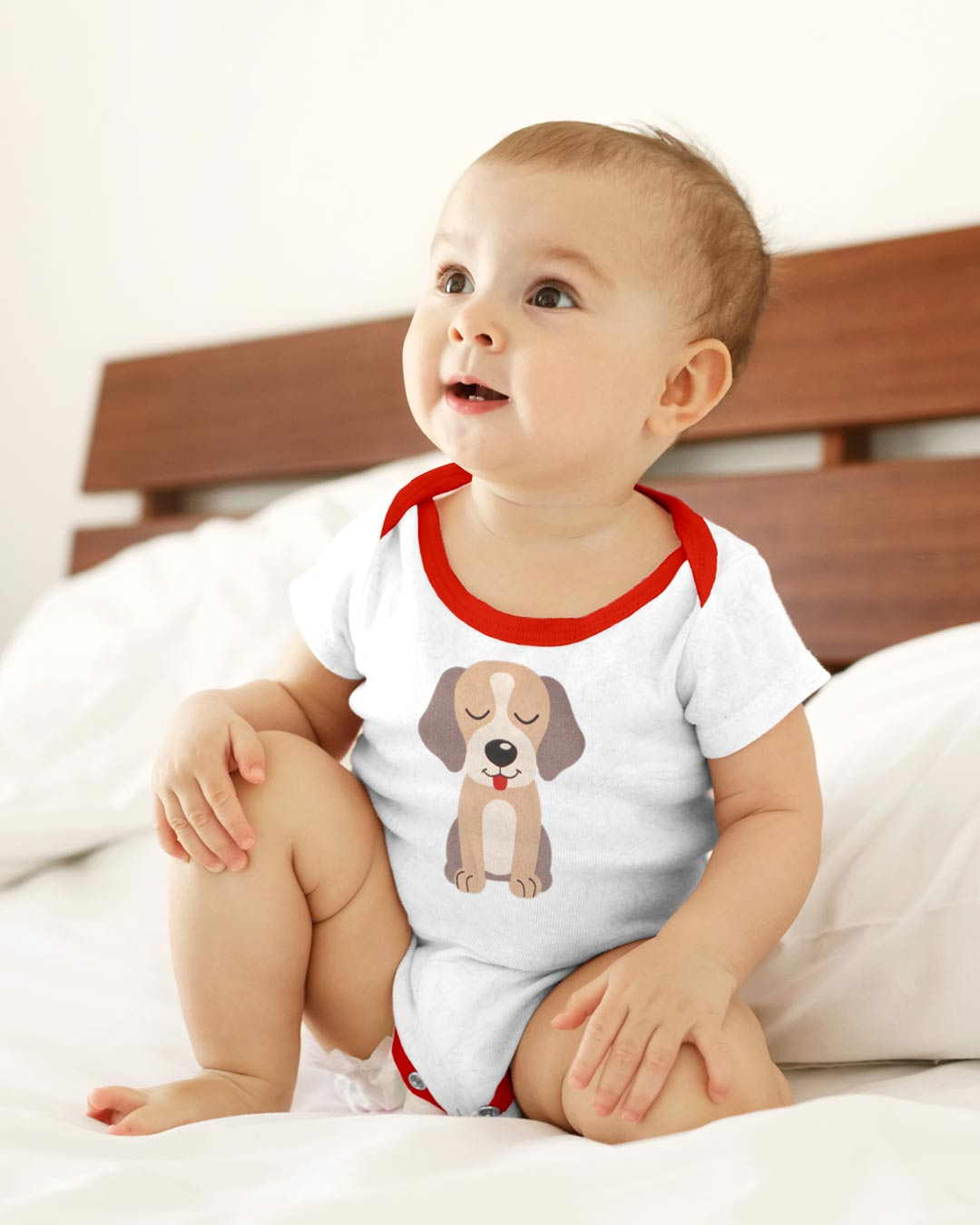 Kit Body 3 Peças com Bermuda Patinhas Branco - Sorriso Kids