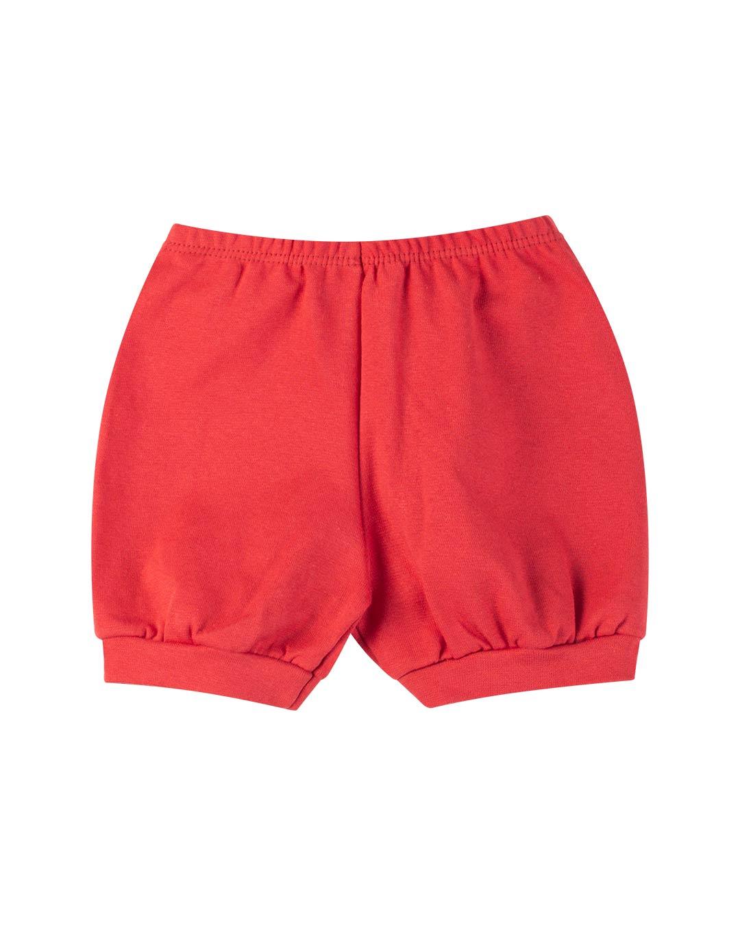 Kit Body 3 Peças com Bermuda Sorvetinho Vermelho - Sorriso Kids