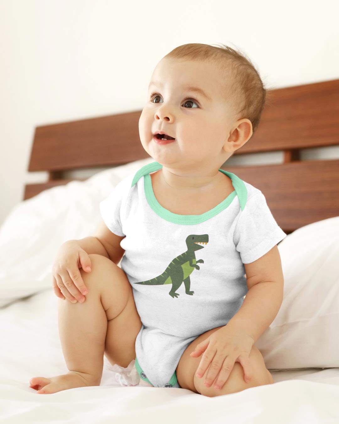 Kit Body 3 Peças Dinossauro Off White - Sorriso Kids
