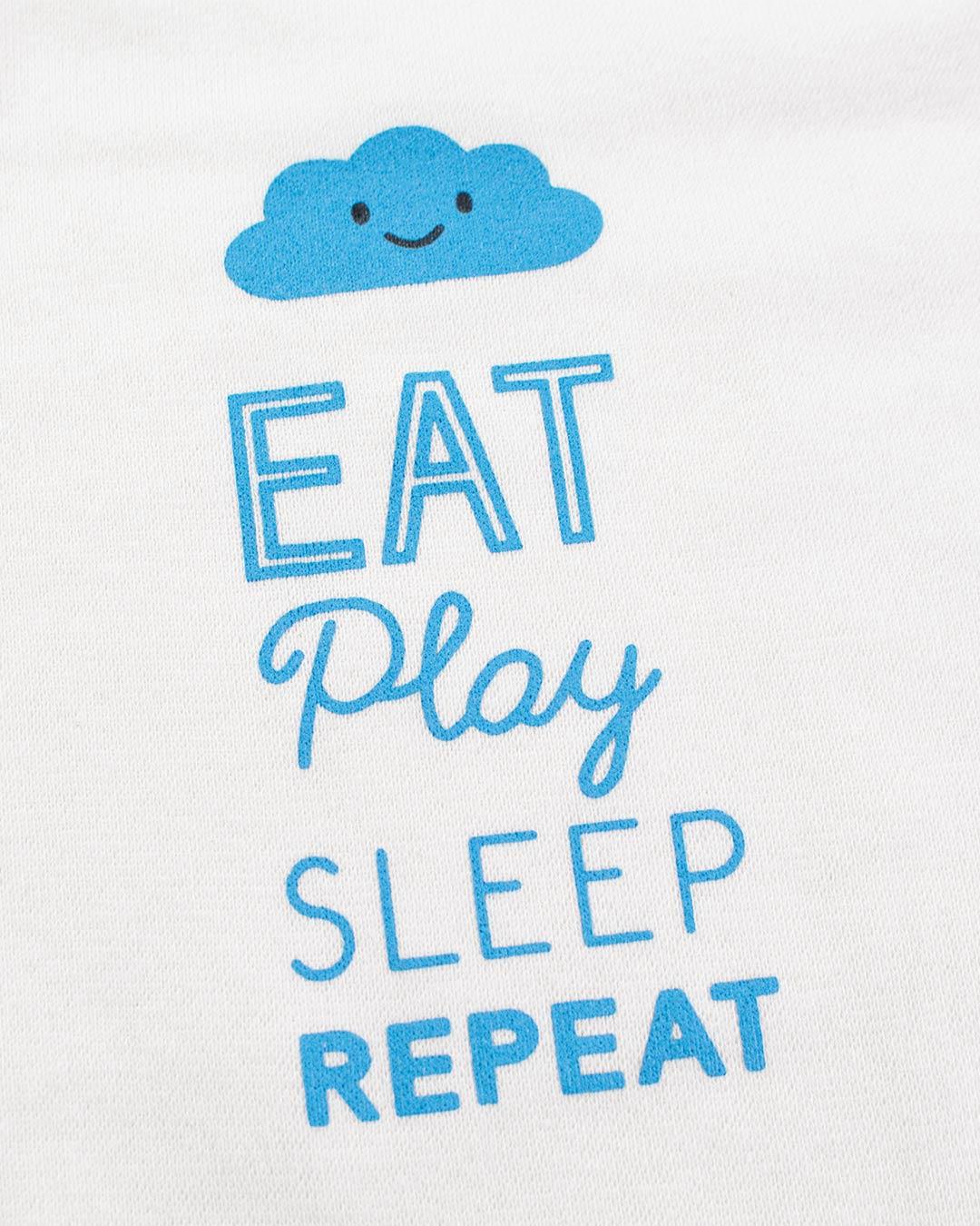 Kit Body 3 Peças Eat Play Off White - Sorriso Kids