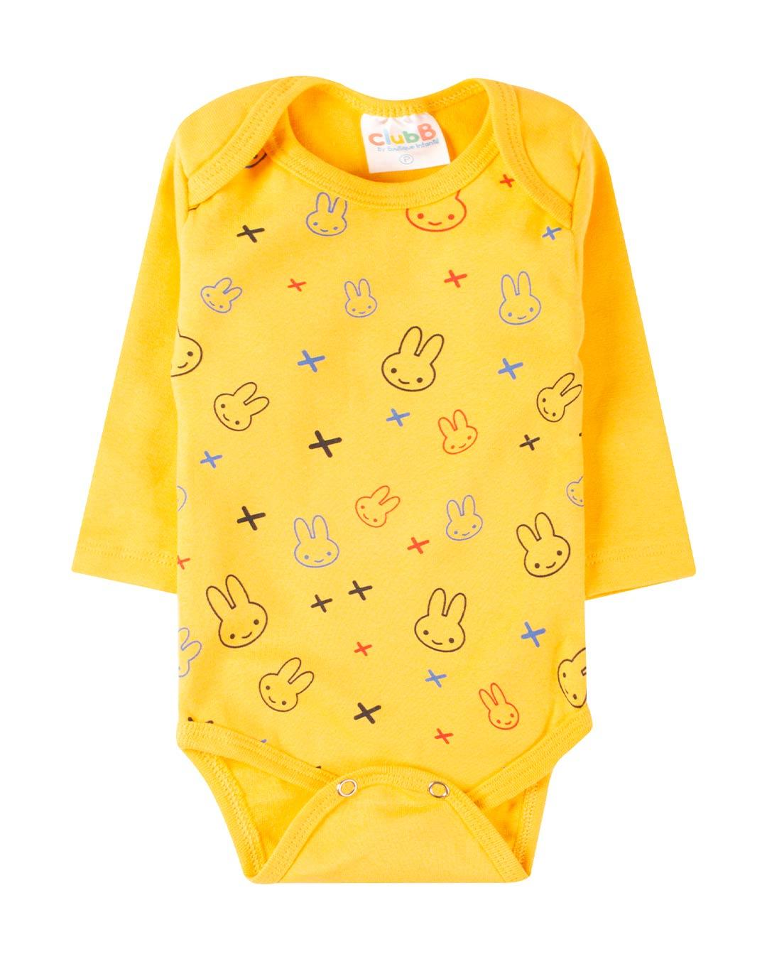 Kit Body 3 Peças Happy Little Bunny Branco - Sorriso Kids