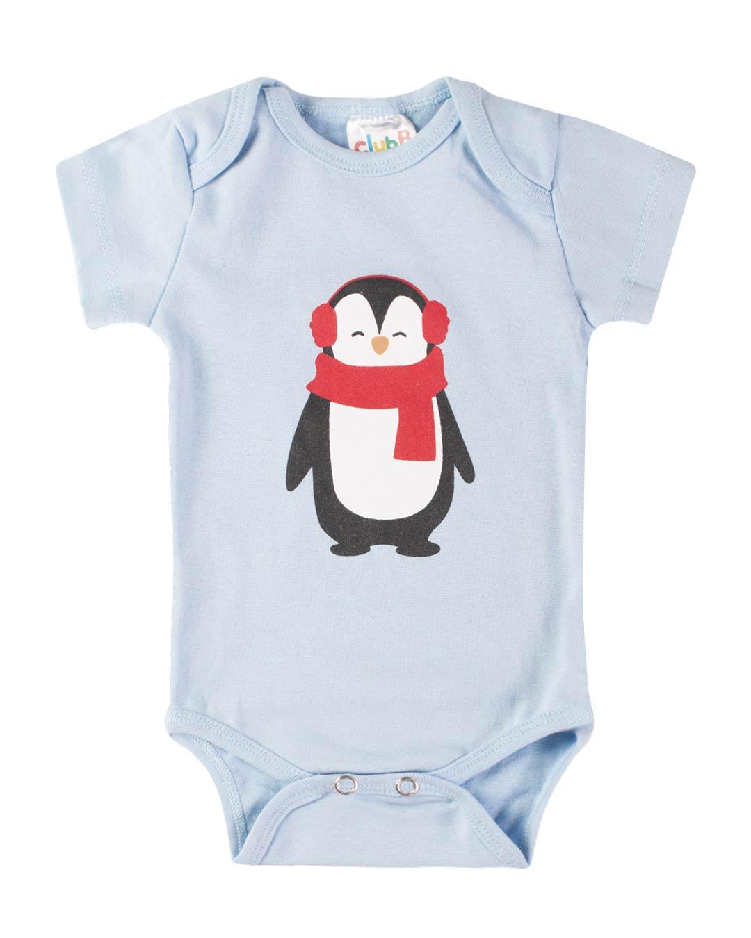 Kit Body 3 Peças Pinguim Azul - Sorriso Kids