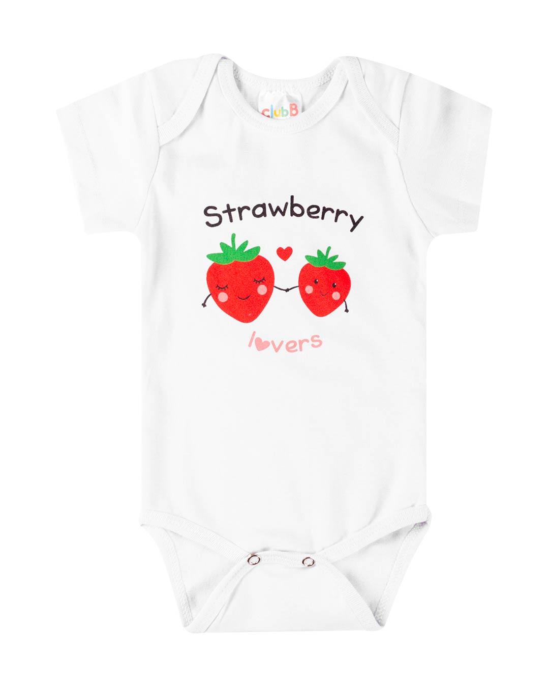 Kit Body 3 Peças Strawberry Rosa - Sorriso Kids