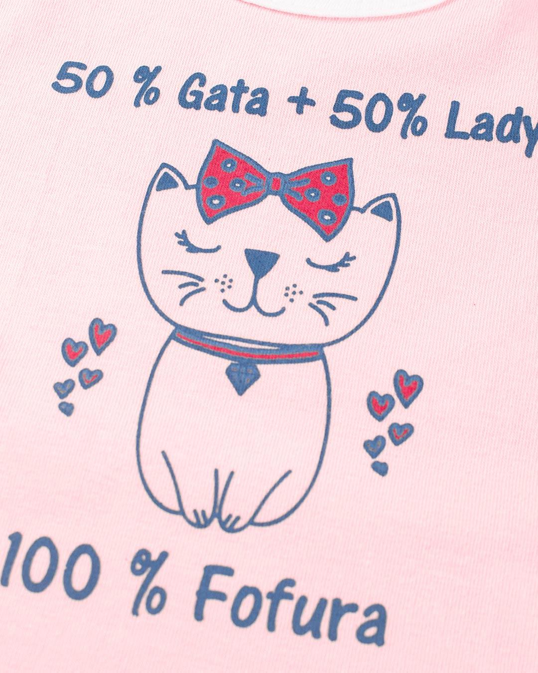 Kit Body 4 Peças 50% Gata + 50% Lady Rosa - Cara Metade