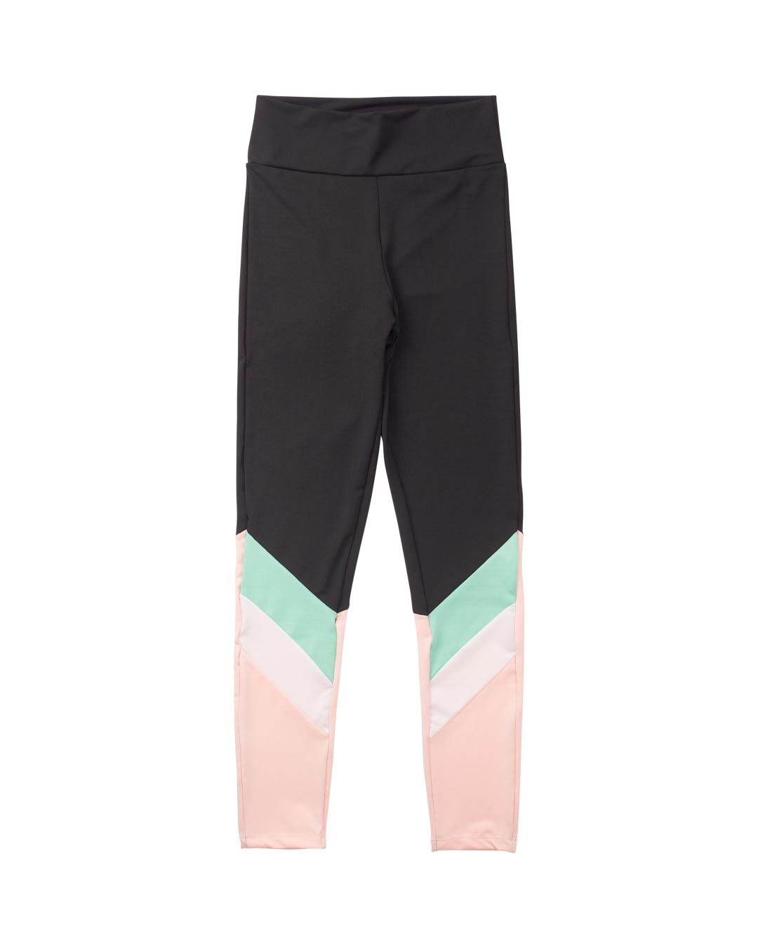 Legging Fitness Preto Com Detalhes Rosa e Verde -  Movimente-se
