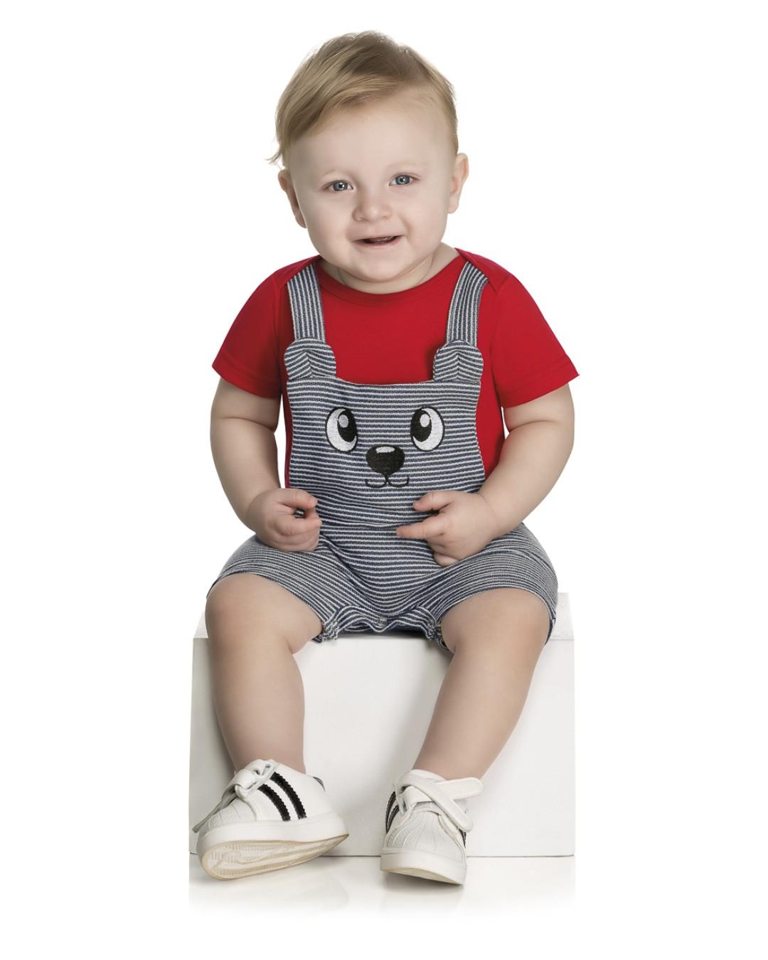 Macaquinho Infantil com Botão de Pressão - WRK