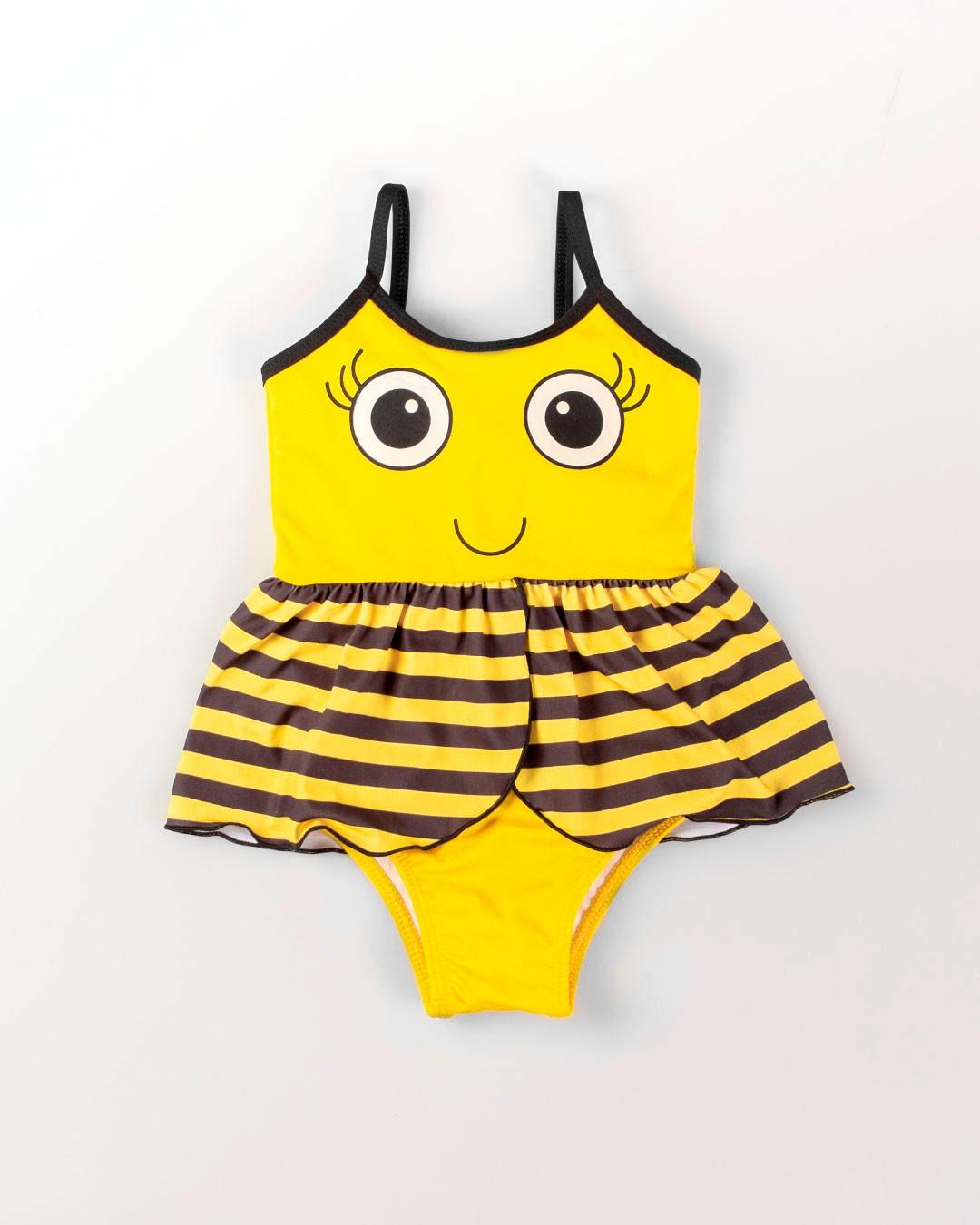 Maiô Bebê e Infantil Abelinha Amarelo - VNT