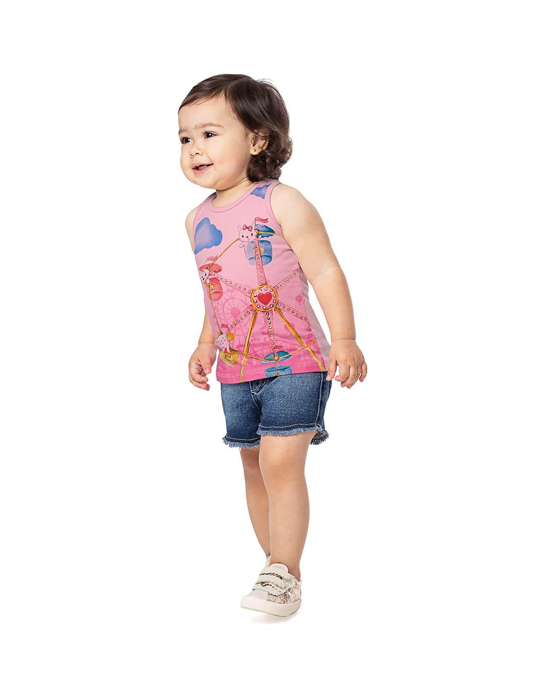Regata Bebê/Infantil Feminina Roda Gigante Pet - Alenice