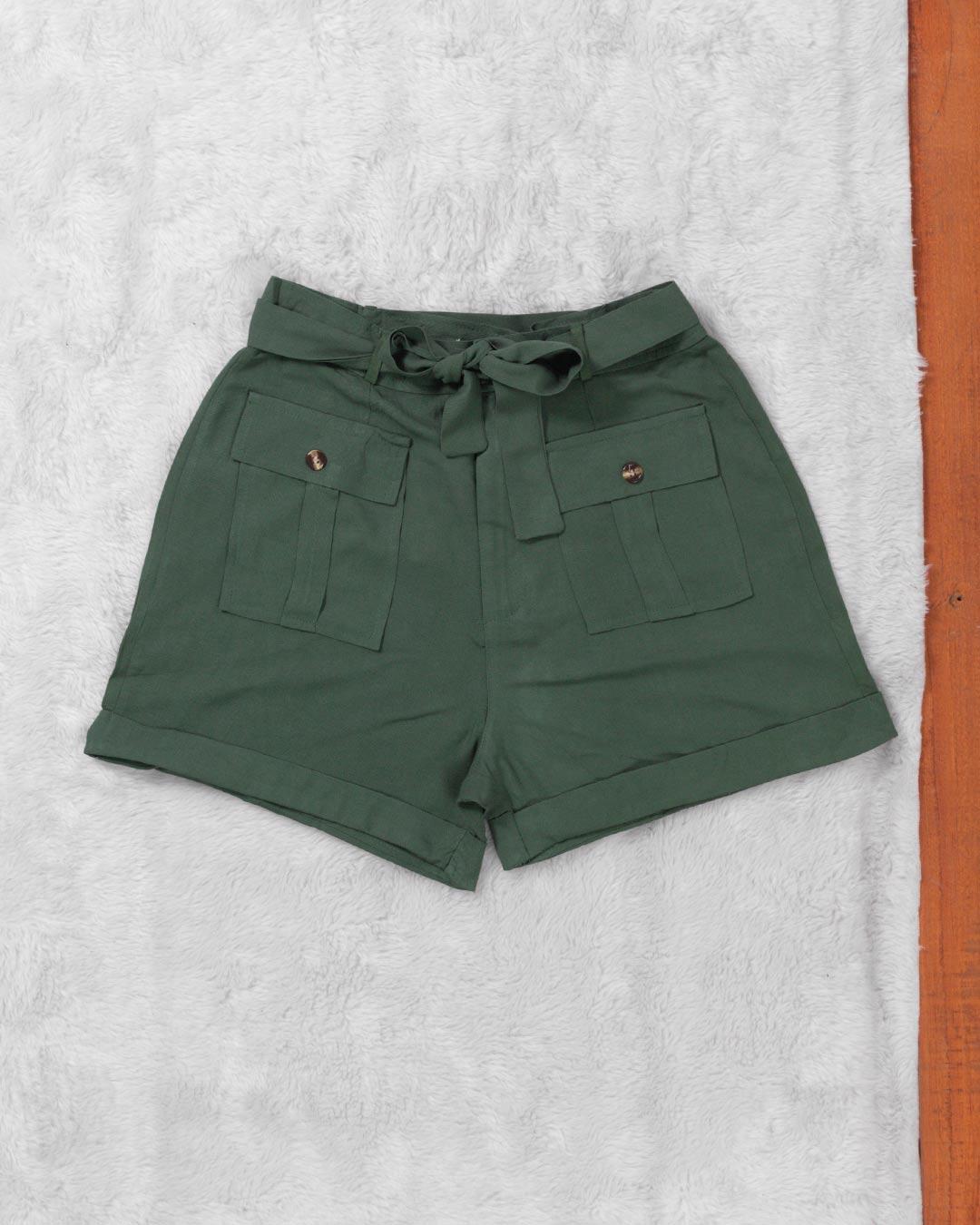 Shorts Adulto Com Bolso Frontal e Botão - Jacksnipe