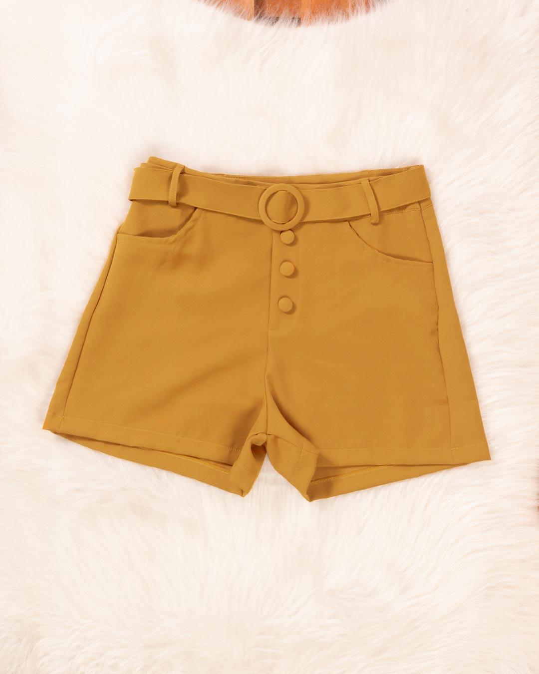 Shorts Adulto Com Cinto e Zíper Lateral - The Moment