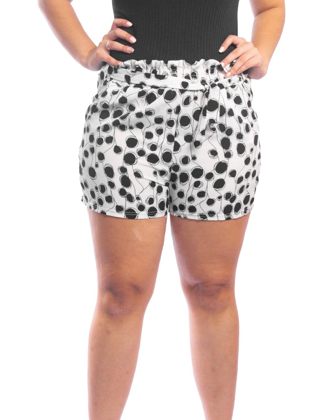 Shorts Adulto Com Cinto Estampa Bolinhas - Jacksnipe