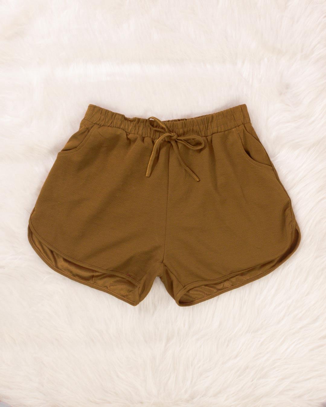 Shorts Adulto Com Elástico Na Cintura - Moça Bonita