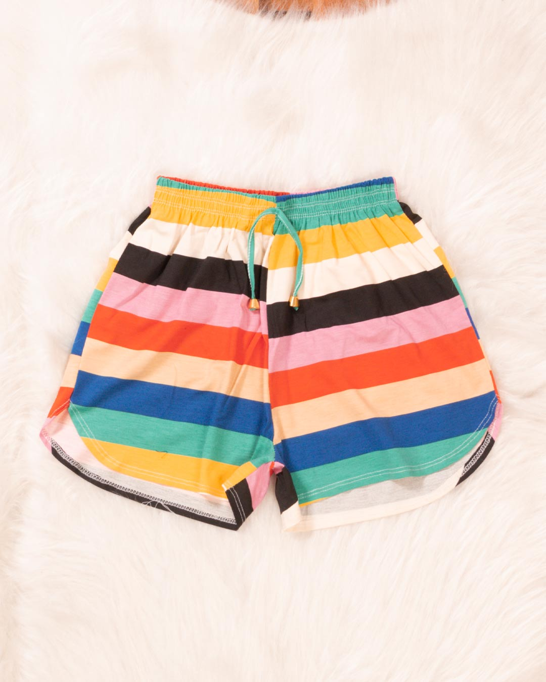 Shorts Adulto Estampa Colorida - Moça Bonita