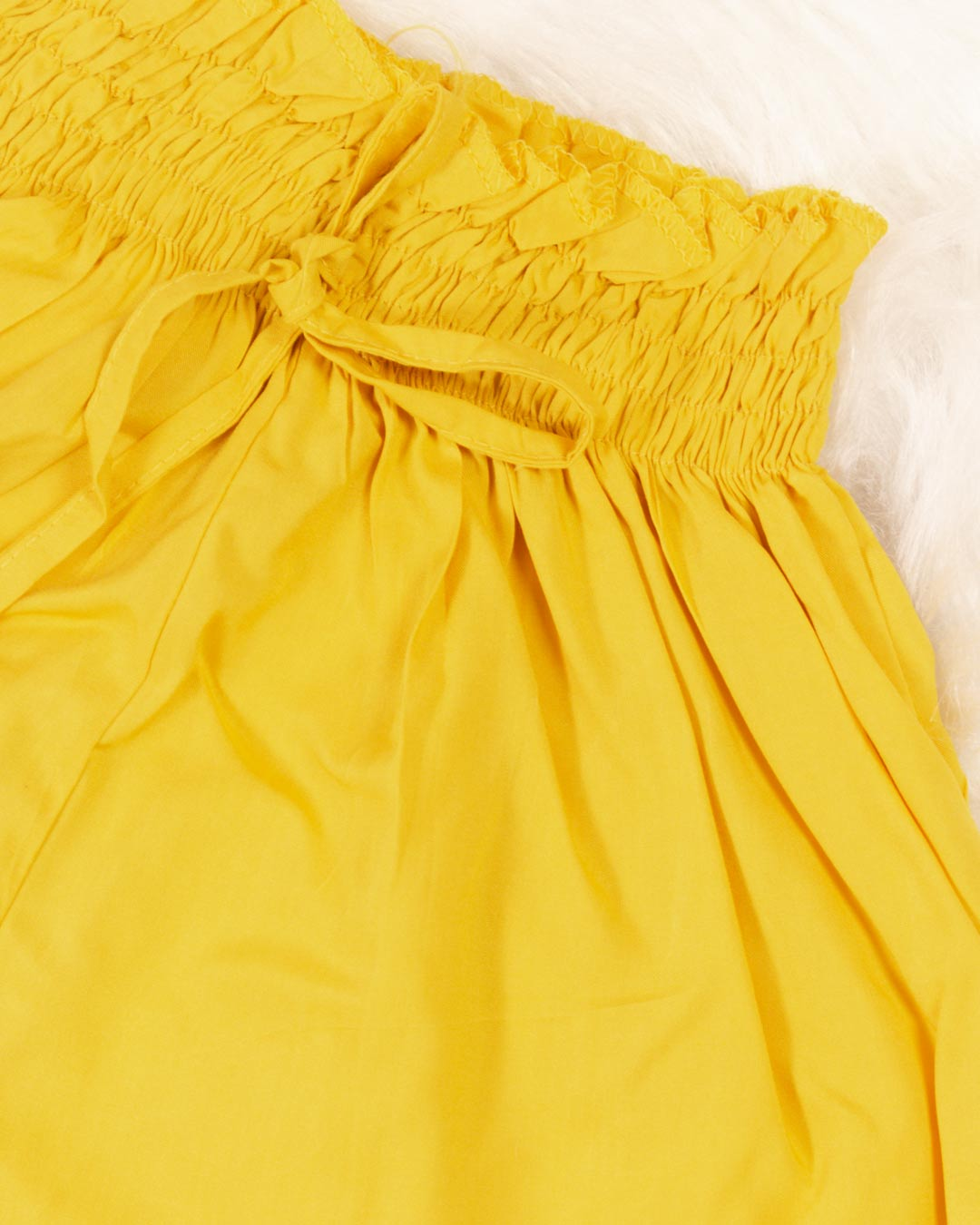 Shorts Adulto Godê Amarelo - Moça Bonita