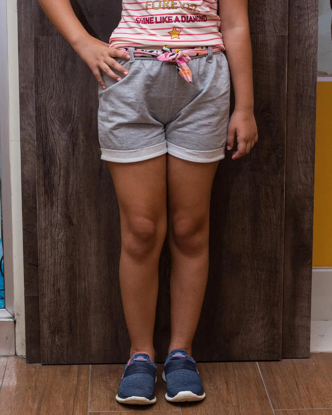 Shorts Juvenil Com Cinto Floral - Fakini