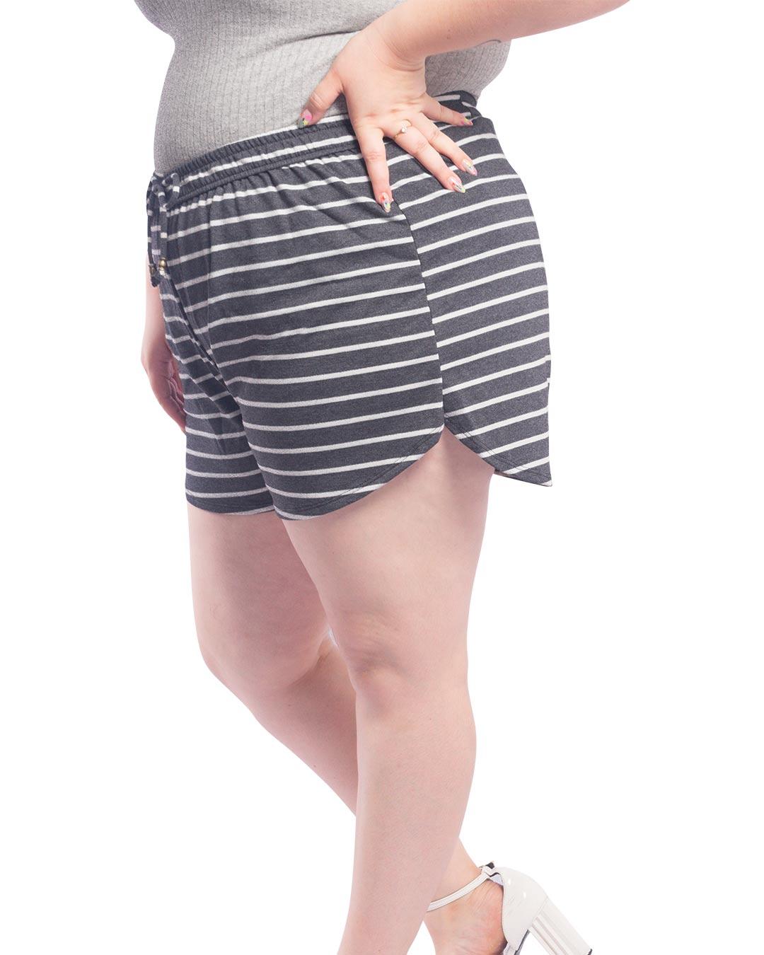 Shorts Plus Size Listrado - Lecimar