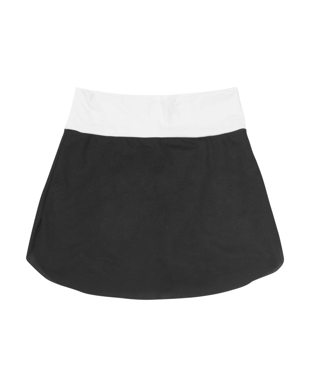 Shorts Saia Fitness Branco Com Tule Preto - Movimente-se