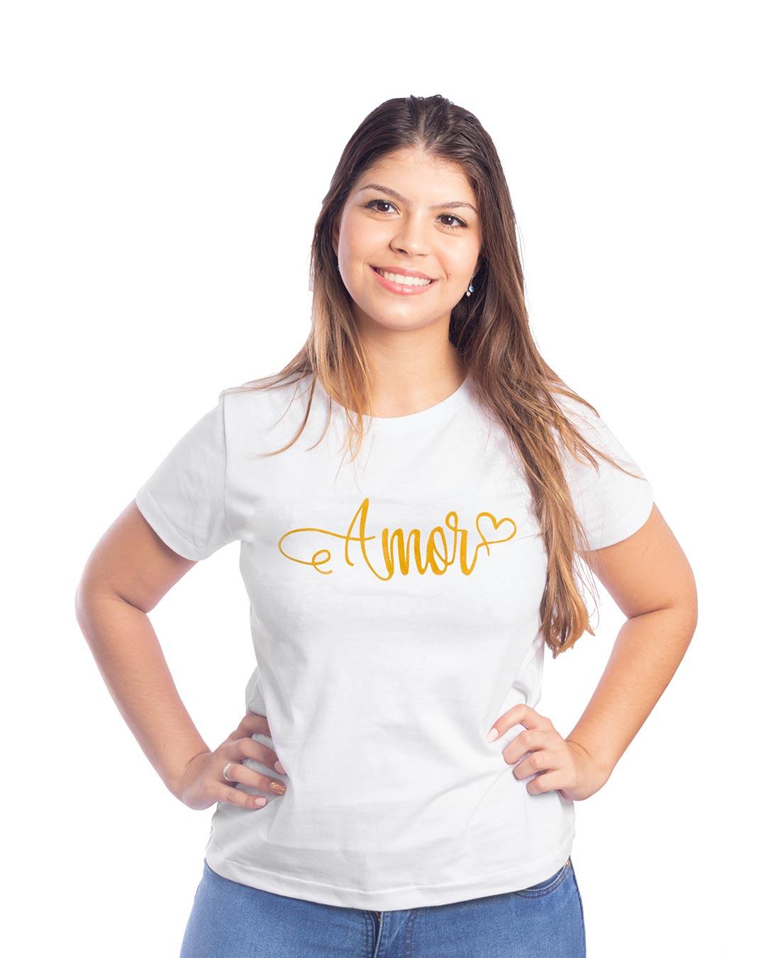 T-Shirt Adulta e Plus Size Amor - Santa Margô