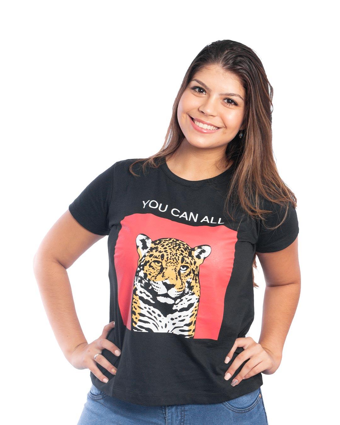 T-Shirt Adulta e Plus Size You Can All - Santa Margô