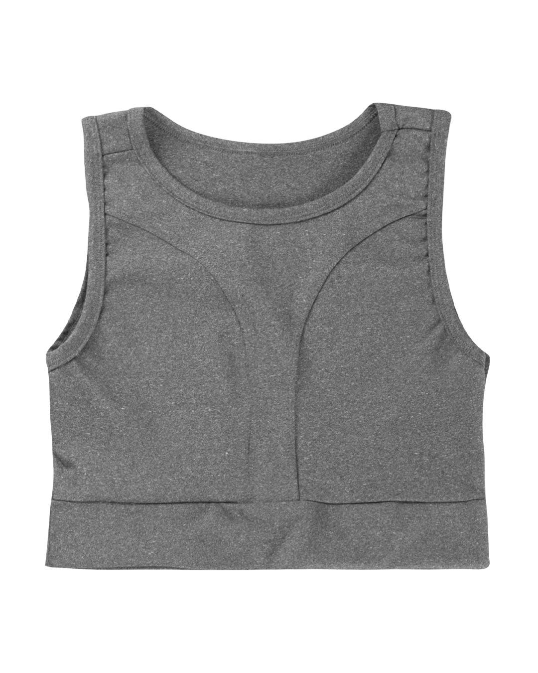 Top Fitness Mescla Com Detalhes Em Costura - Movimente-se