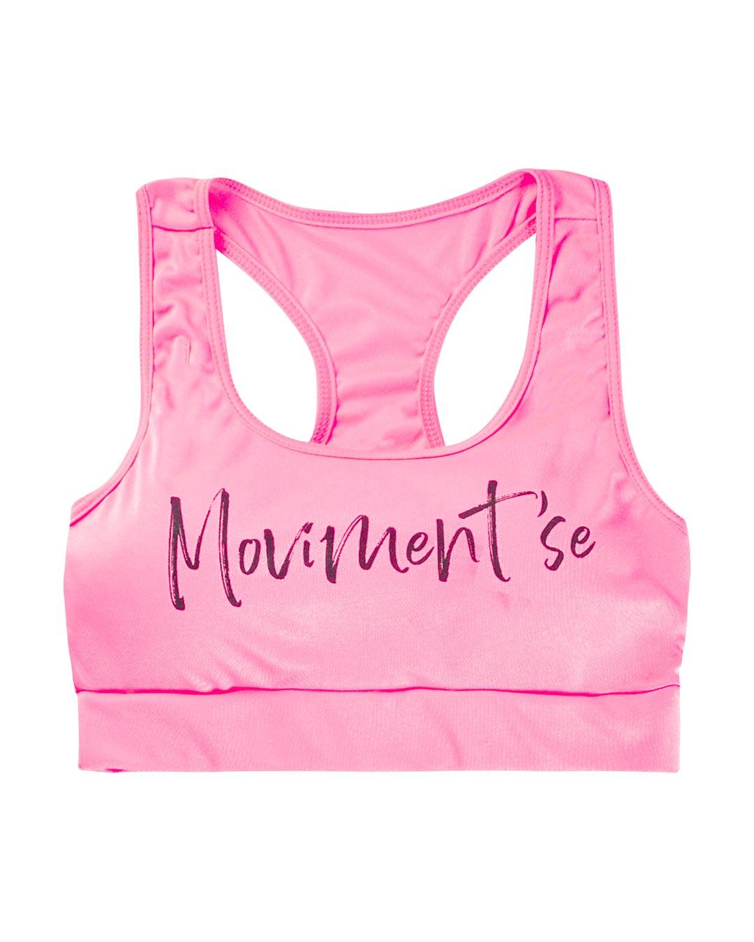 Top Fitness Com Bojo Moviment'se Rosa -  Movimente-se
