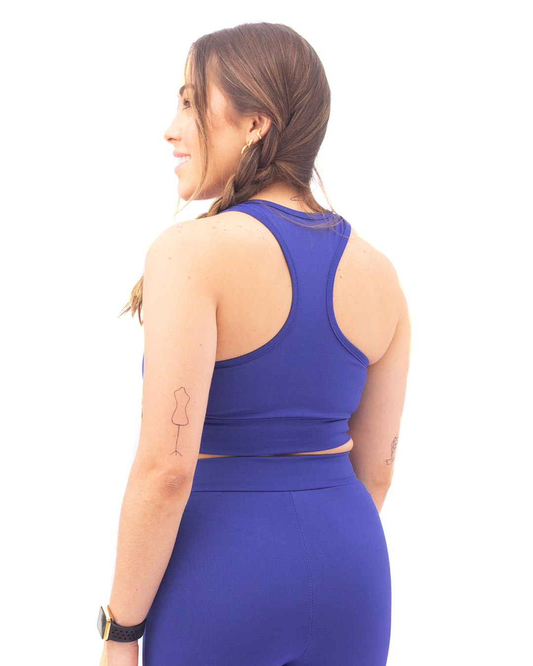 Top Fitness Nadador Azul Forrado - Movimente-se