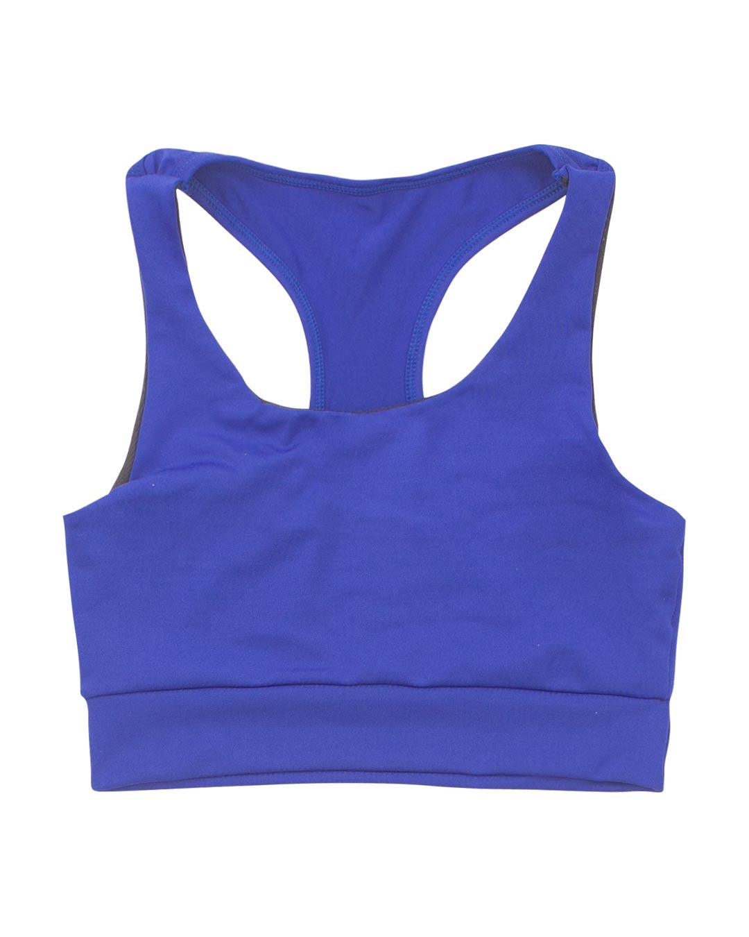 Top Fitness Plus Size Básico Azul - Movimente-se