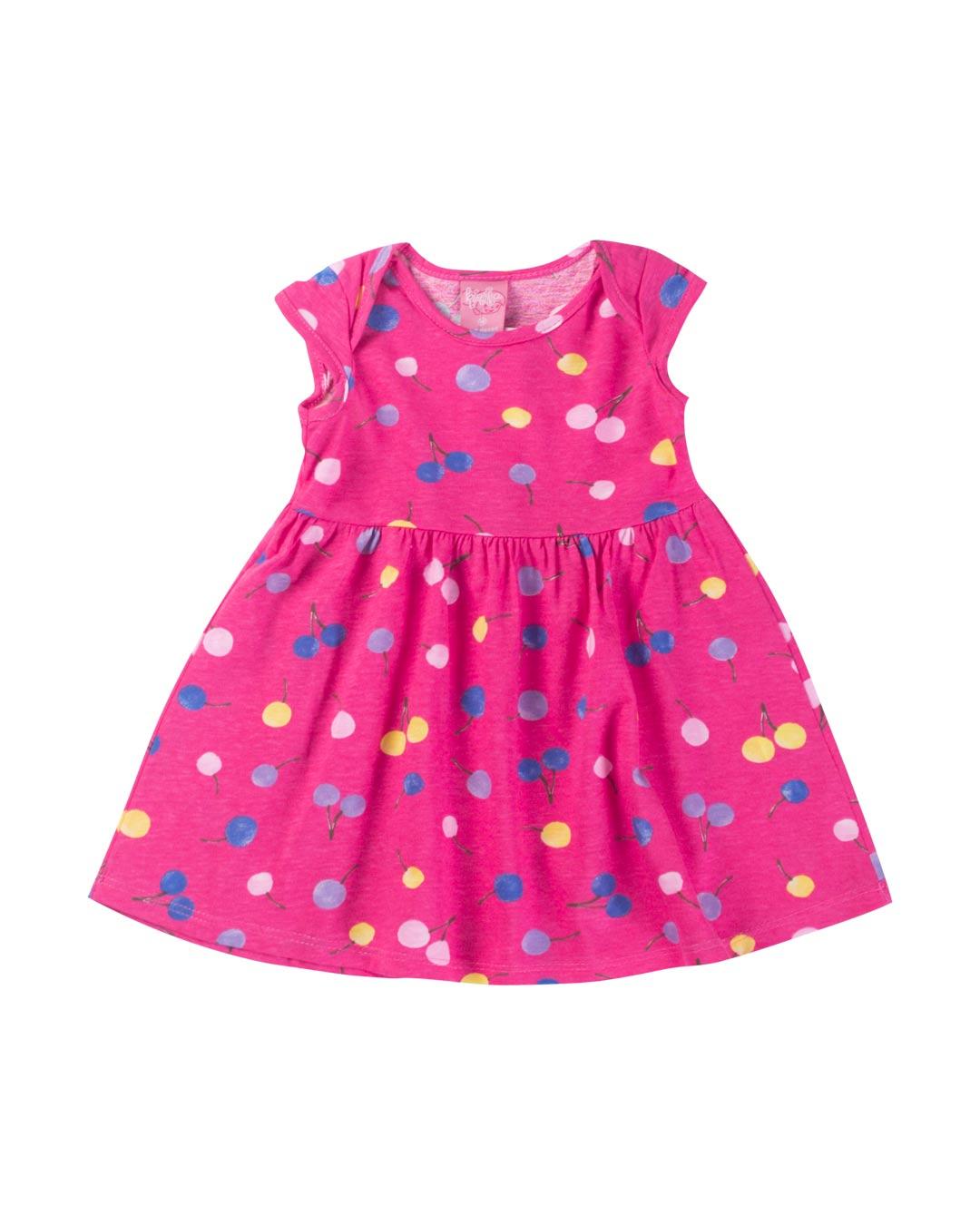 Vestido Bebê Cerejas - Lecimar