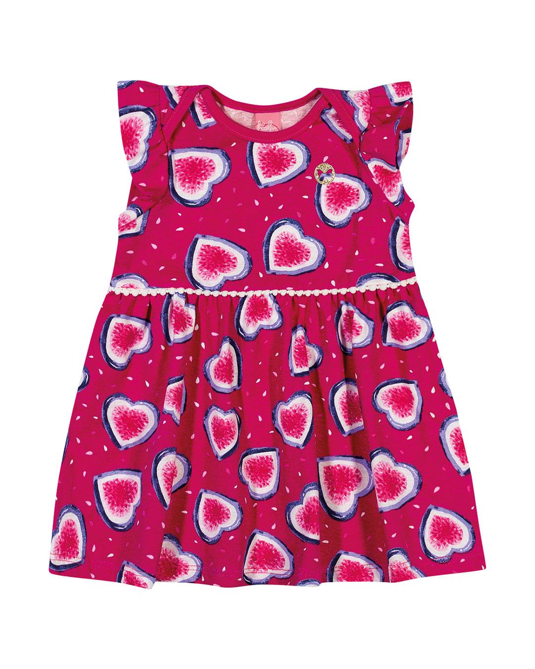 Vestido Bebê Corações - Lecimar