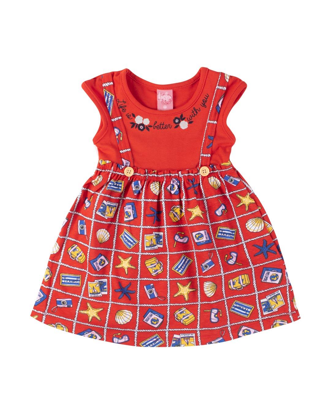 Vestido Bebê/Infantil Life is Better With You - Lecimar