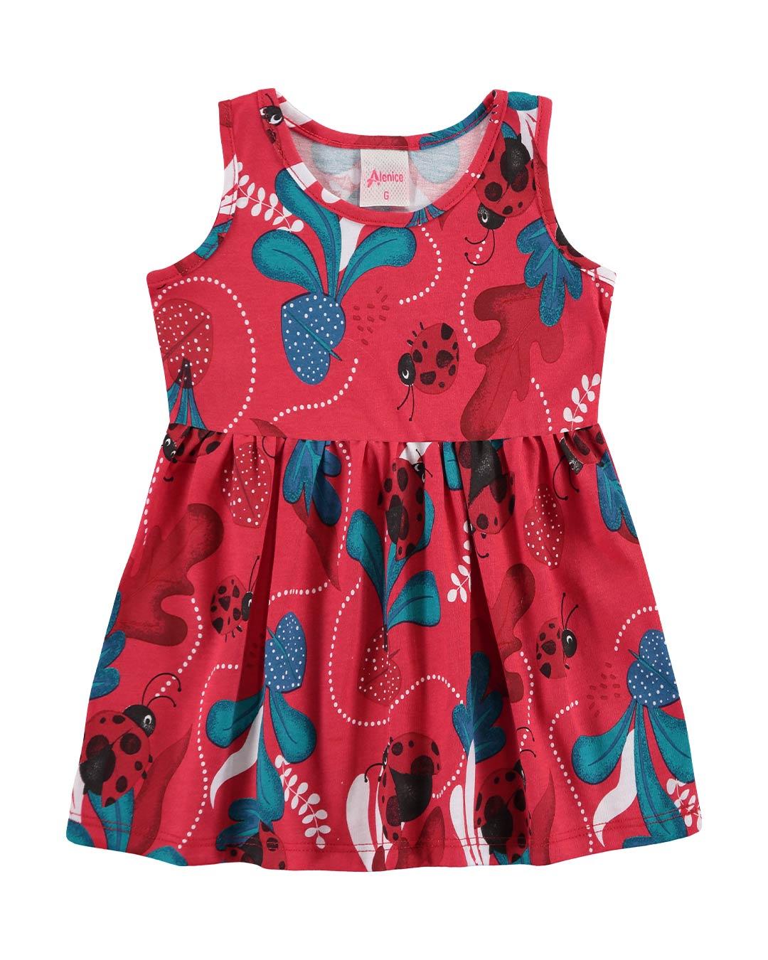 Vestido Bebê Joaninha - Alenice