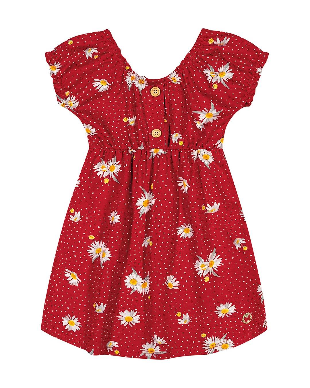 Vestido Bebê Margaridas - Lecimar