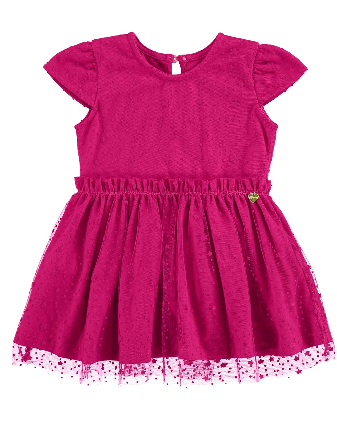 Vestido Bebê Renda e Tule - Alenice