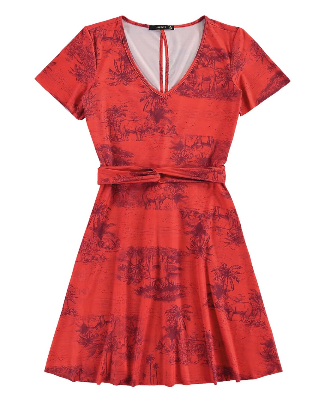 Vestido Estampa Variada - Rezzato