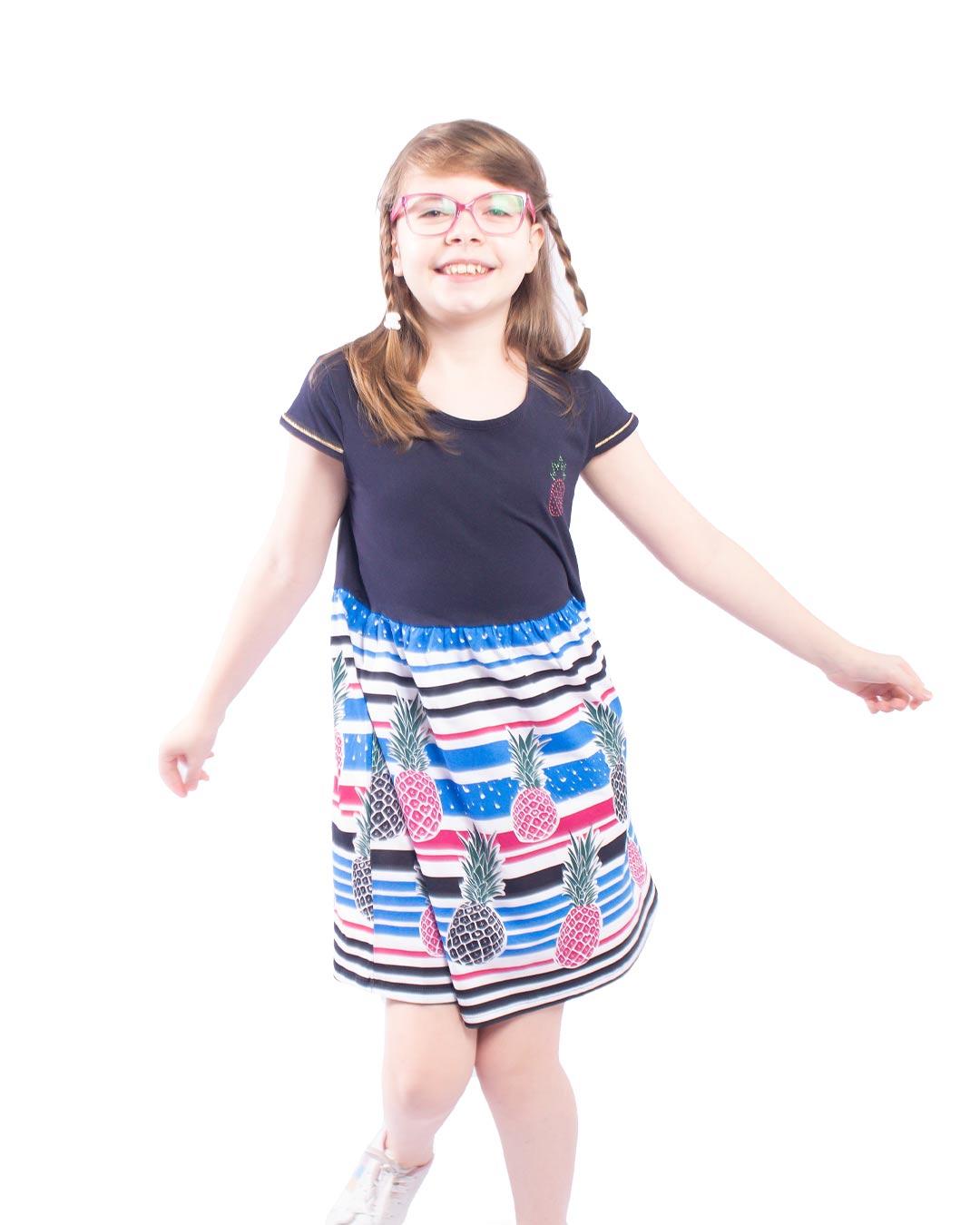 Vestido Infantil Abacaxis - Alenice