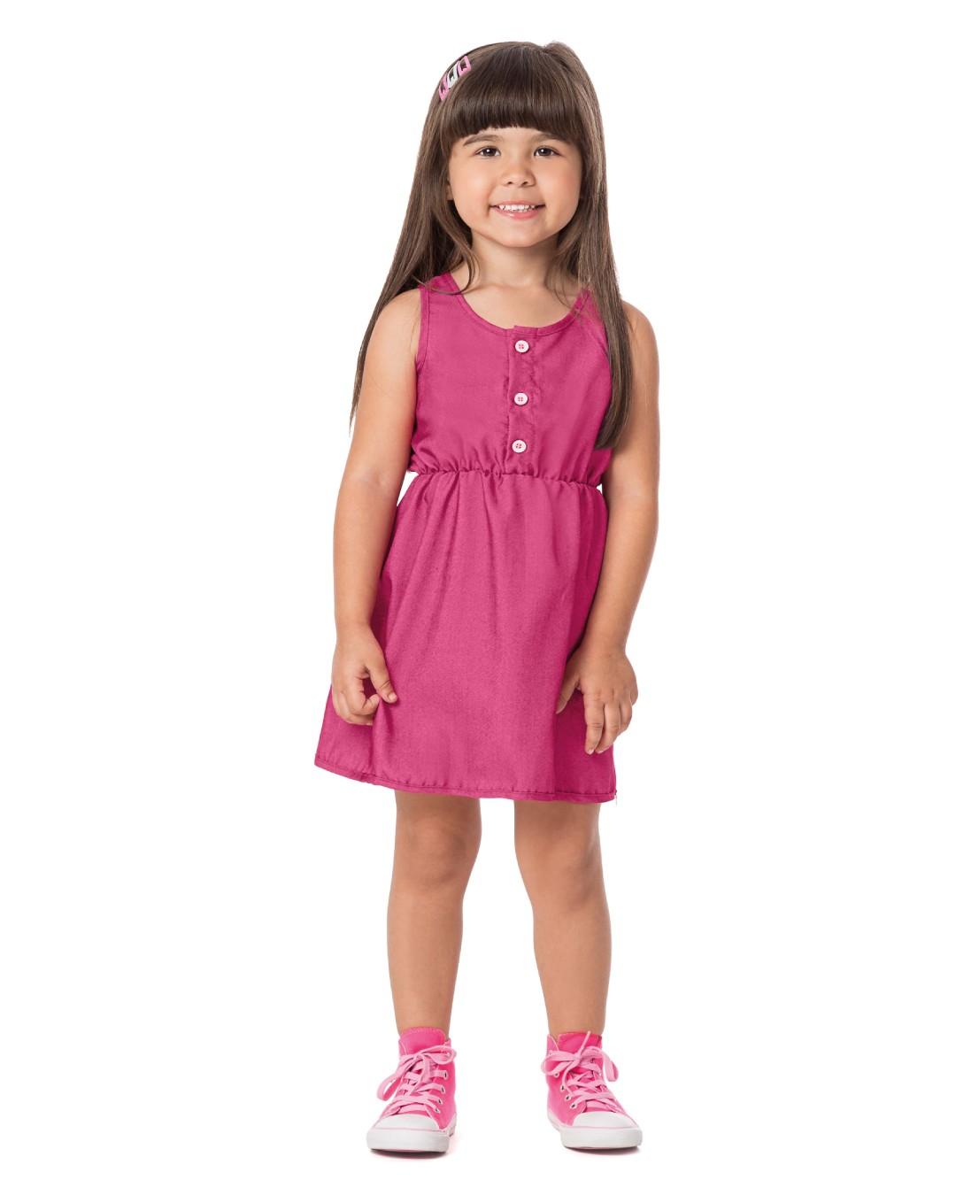 Vestido Infantil com Botões - Alenice